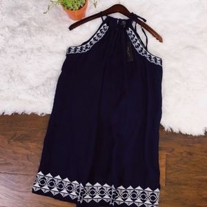 Romeo Juliet Couture Small Dress Navy Embroidered